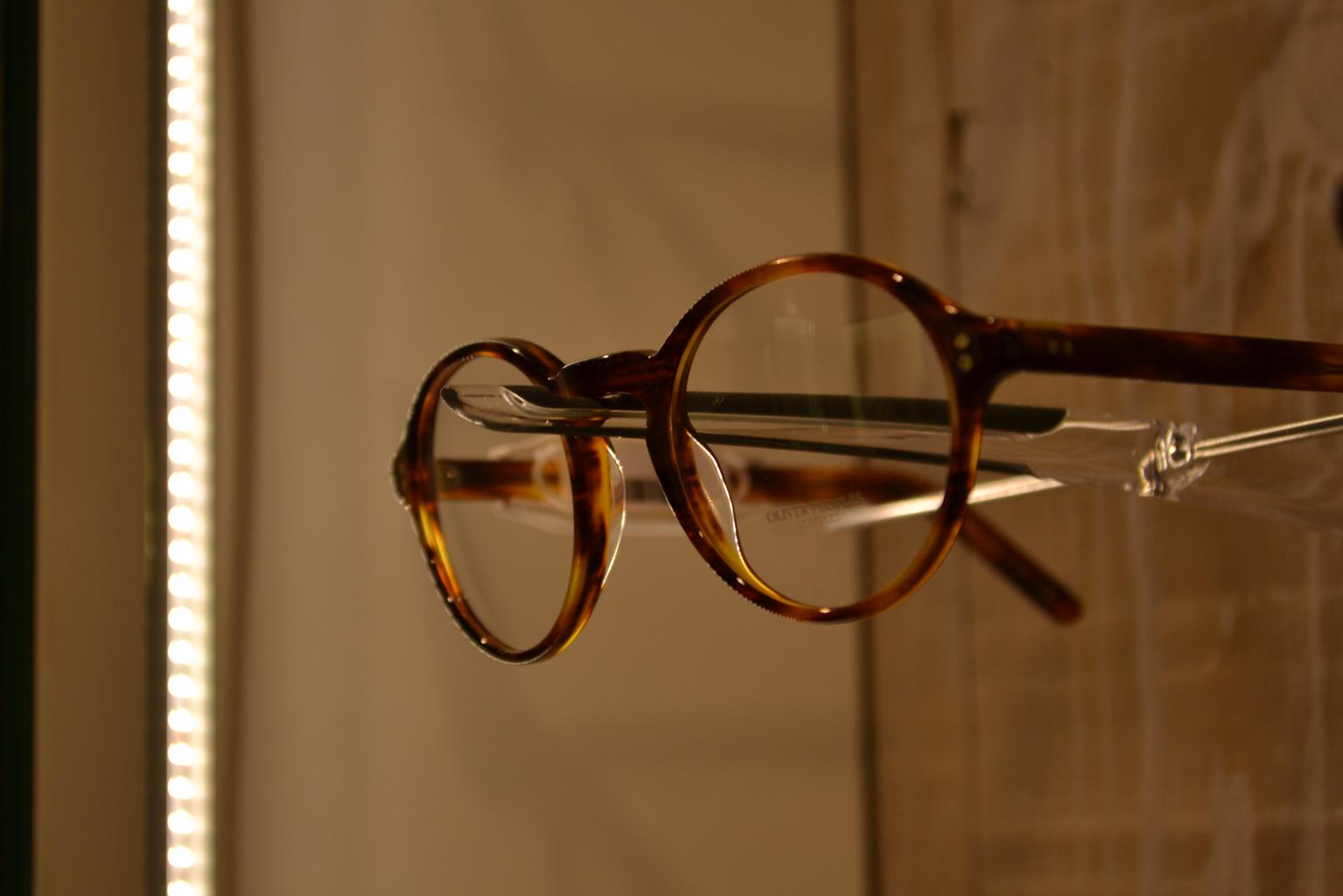 paire de lunettes rondes