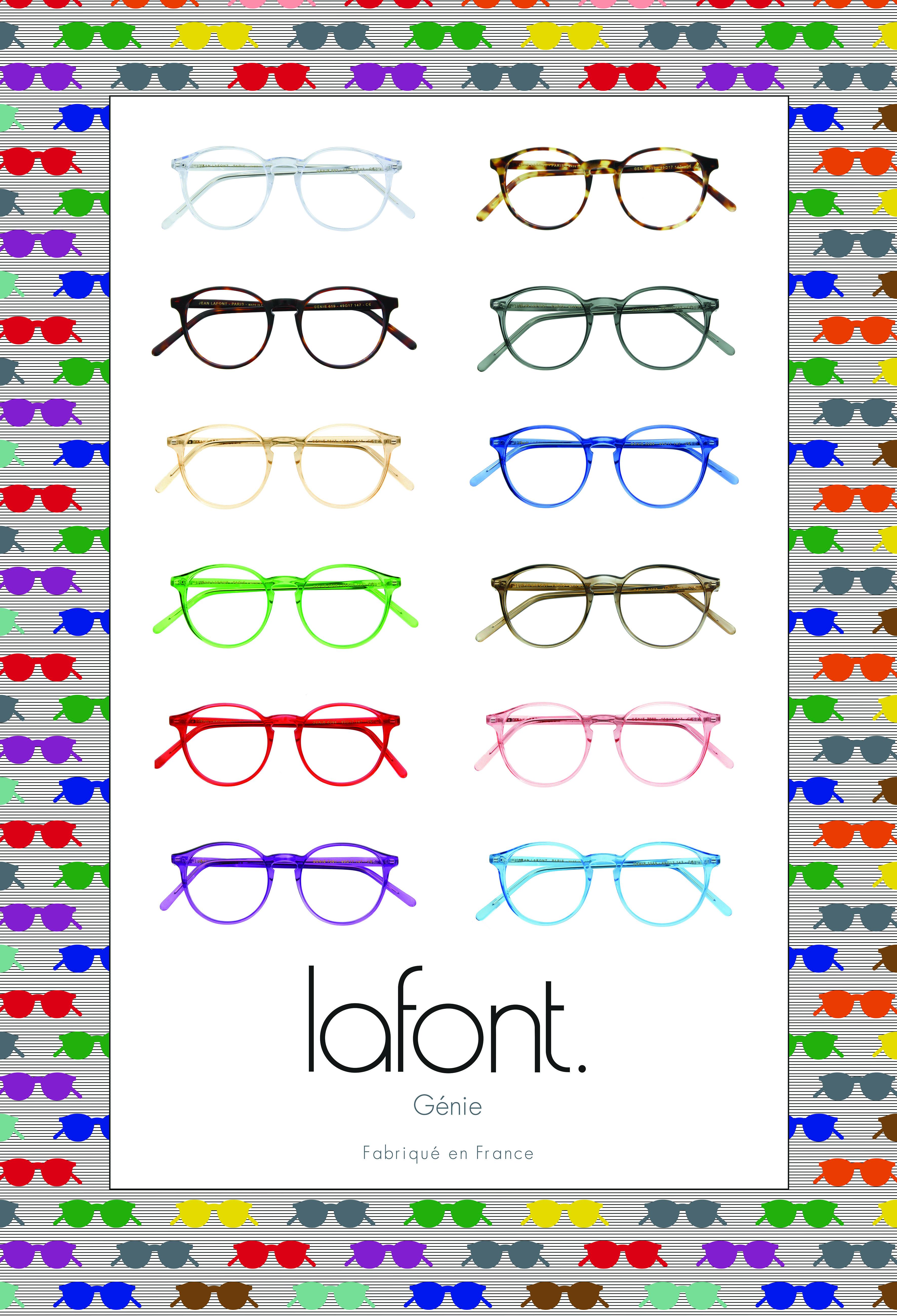 serie lunettes lafont couleurs